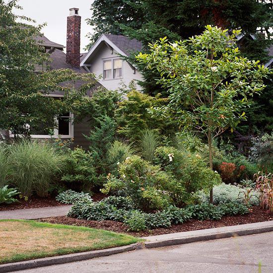 New Home Interior Design: Front Yard Sidewalk-Garden Ideas