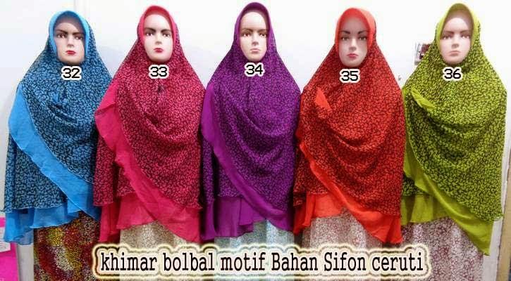 jilbab khimar motif terbaru
