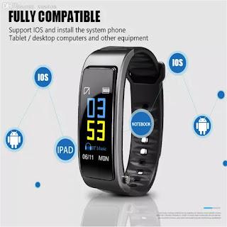 smartwatch braccialetto sport touch colori