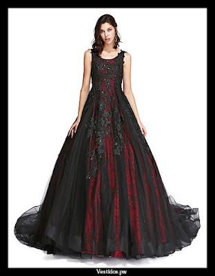 Imagenes de vestidos de 15 color negro