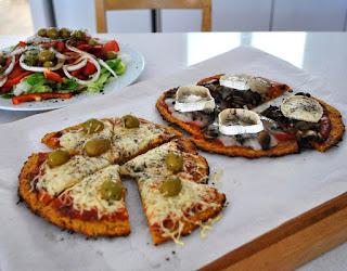 Pizza con masa de zanahoria (sin harina)