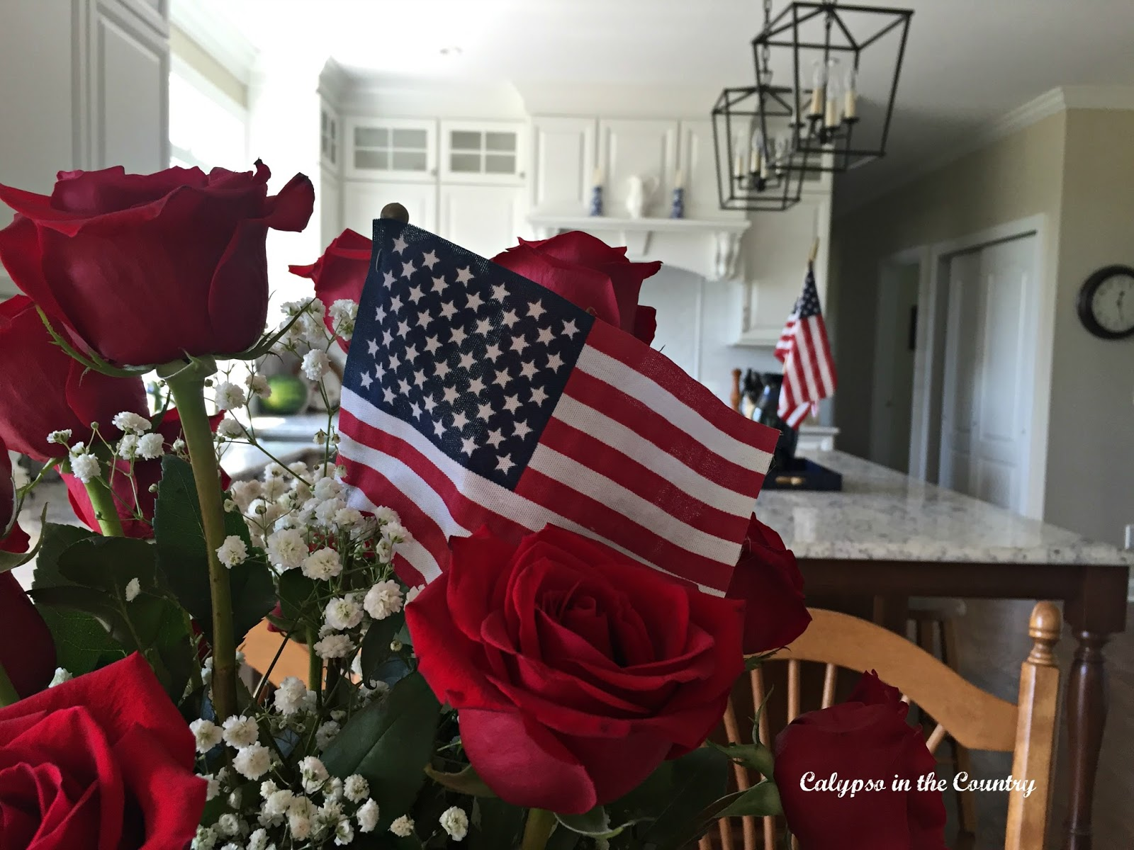 Decorating the Kitchen for the 4th of July