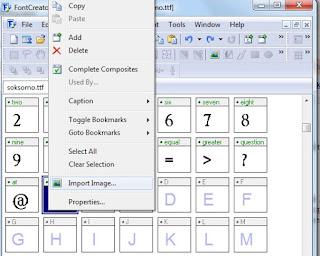 cara memasukkan gambar huruf tulisan tangan ke font creator