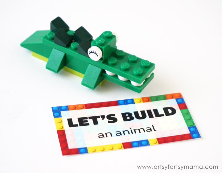 Encourage Kids to #KeepBuilding with LEGO® with Free Printable Challenge Cards at artsyfartsymama.com