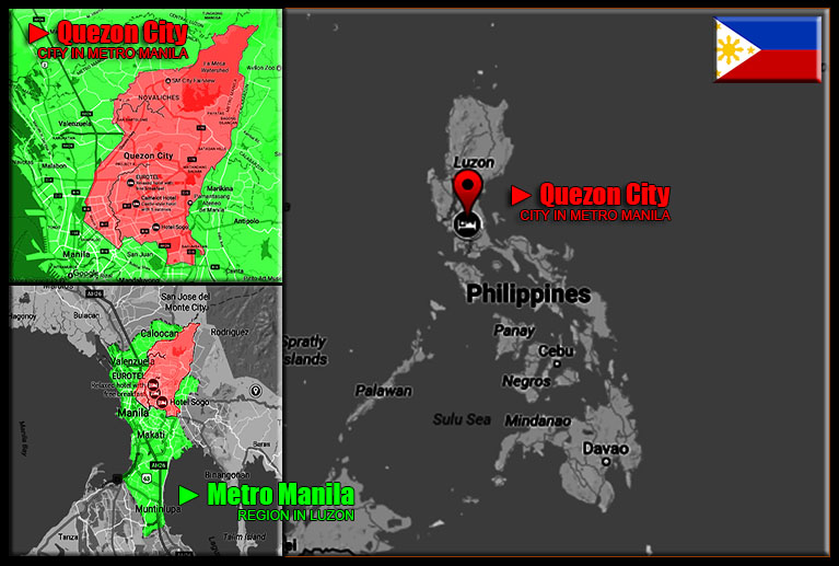 MAP OF QUEZON CITY, METRO MANILA