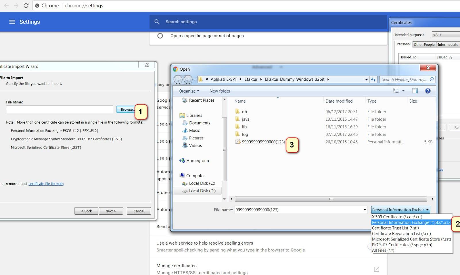 Tutorial Cara Install Sertifikat Elektronik Pada Browser Google Chrome