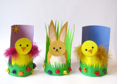 Bunny and Chick Easter egg holders