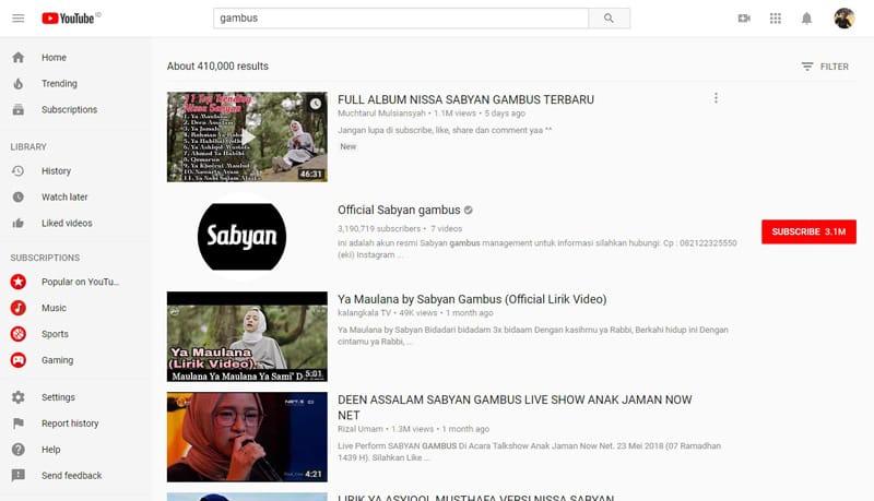 Kumpulan Lagu Islami Gambus Terbaik di Youtube Terbaru