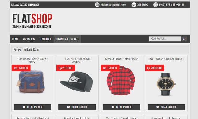 FLATSHOP Online Store Responsive Blogger Templates