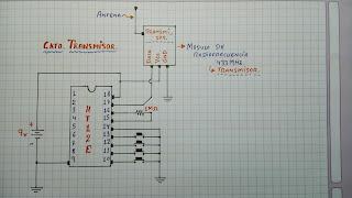 diagrama circuito transmisor de 433MHz.