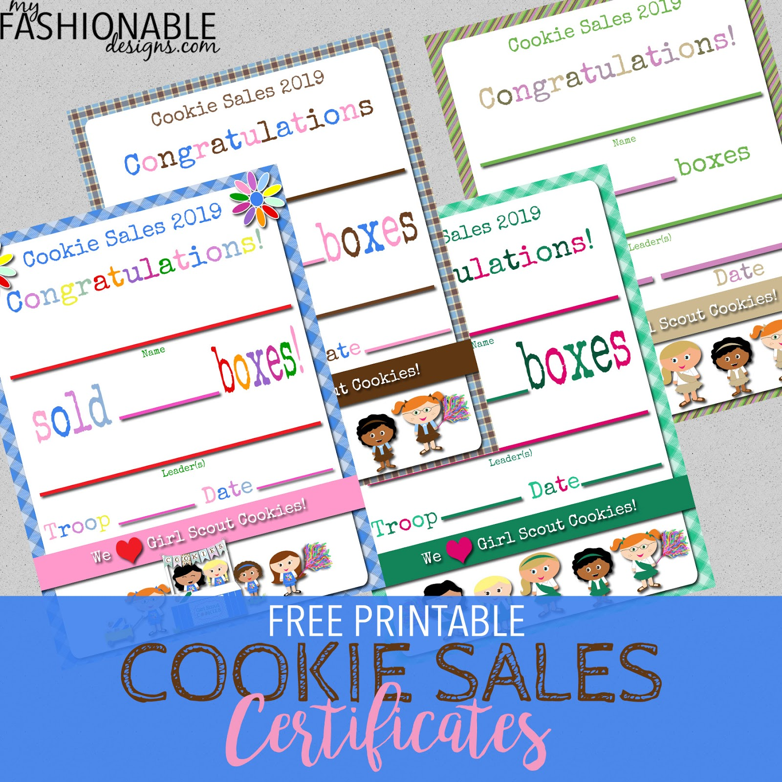 photograph about Girl Scout Certificates Printable Free called My Contemporary Types: Woman Scouts: No cost Printable Cookie