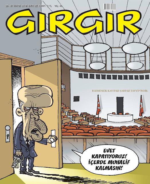 Gırgır Dergisi - 25-31 Mayıs 2016 Kapak Karikatürü