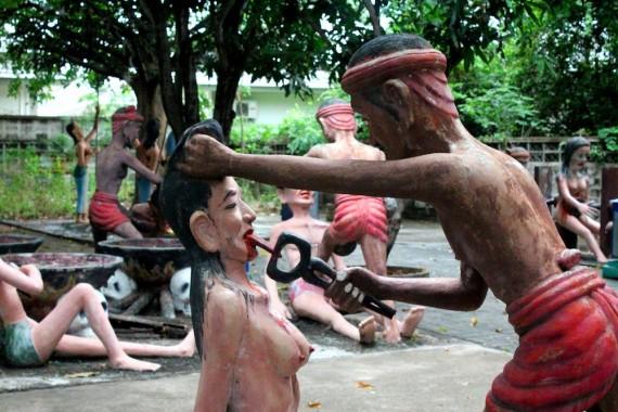 Taman Neraka, Sebuah Ilustrasi Siksa Neraka Versi Budha Thailand