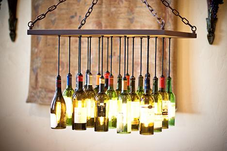 lampu gantung dari botol bekas