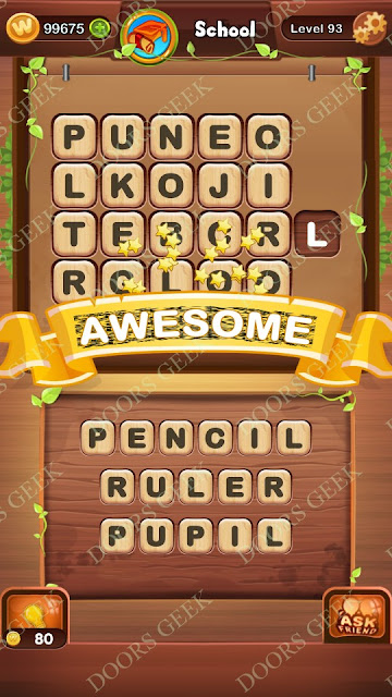 Word Bright Level 93 Answers, Cheats, Solutions, Walkthrough for android, iphone, ipad and ipod