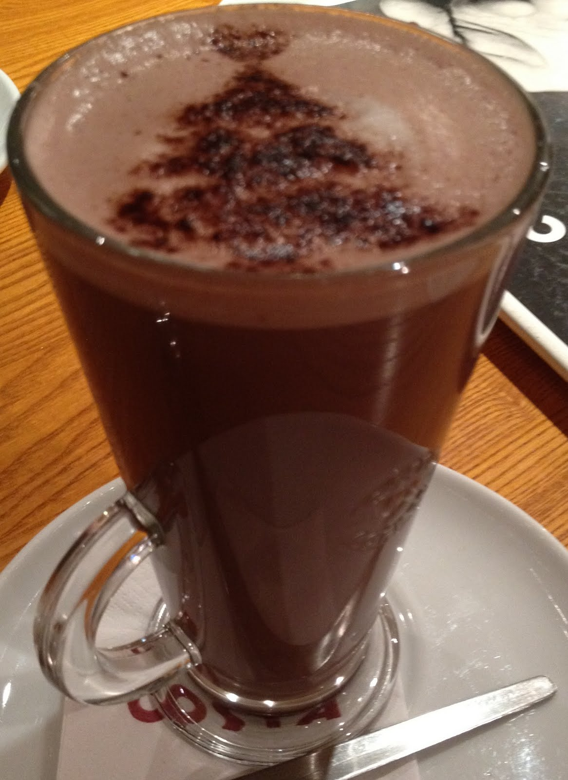 Foodstuff Finds Black Forest Hot Chocolate Costa By