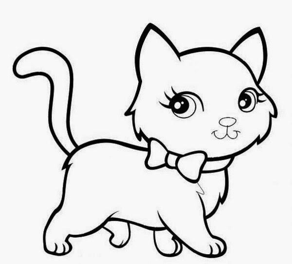 Planse De Colorat Si Fise Pentru Copii Pisica Planse De