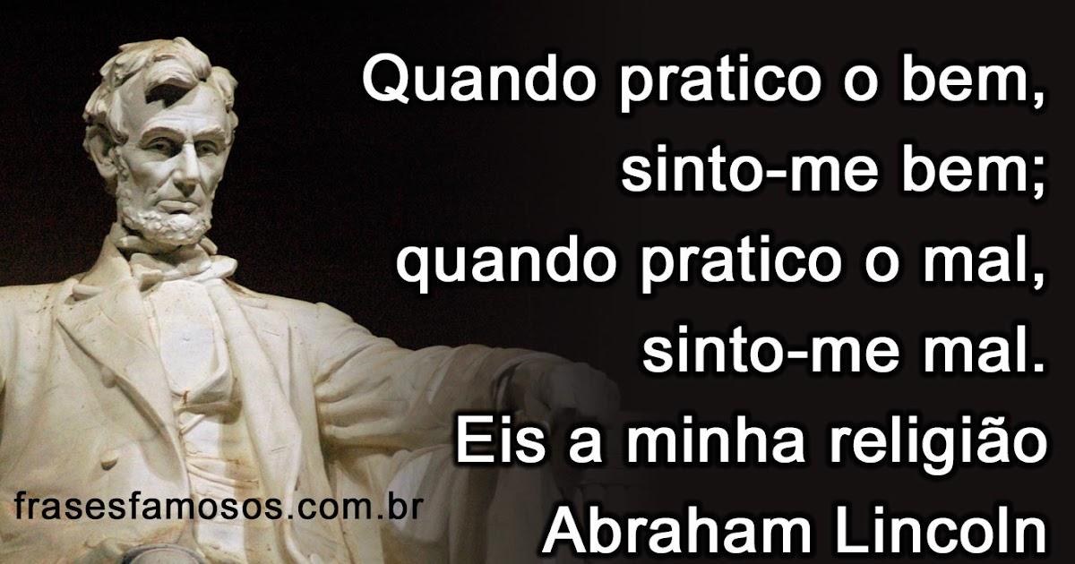 Favoritos Frase de Abraham Lincoln sobre Religião - Frases Famosas PJ68