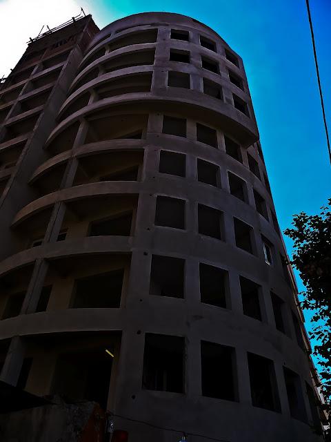 Arquitectura.Edificio en construcción