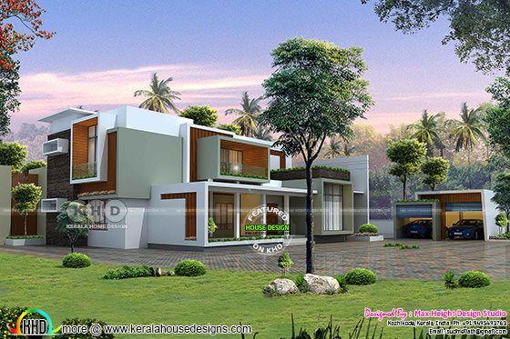 Box type contemporary modern home