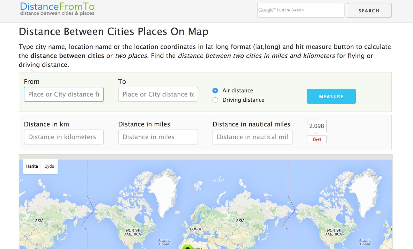 DistanceFromTo net Blog