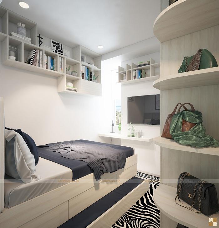 Thiết kế căn hộ 2 phòng ngủ hiện đại, đẹp mê ly - H4