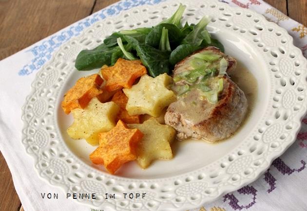 Weihnachtsessen Für 2.Weihnachtsessen Schweinemedaillons In Rahmsauce Mit Sterntaler