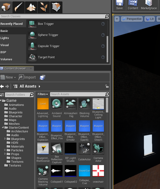 Create an automatic door in ue4 onlinedesignteacher step 3 adding the door malvernweather Choice Image