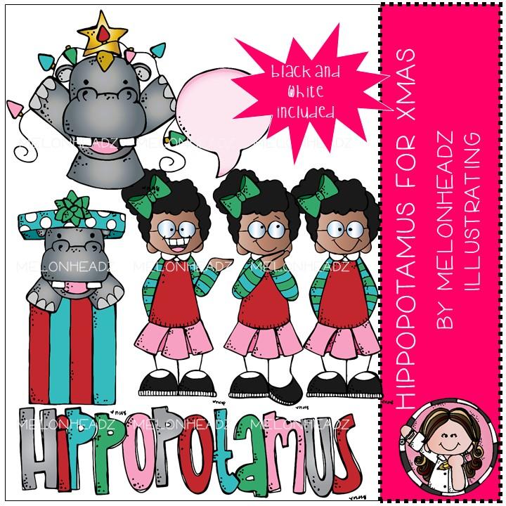Hippo For Christmas.Hippopotamus For Christmas Clip Art Mini