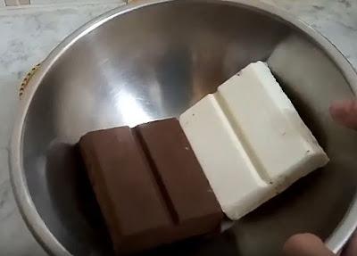 حلوة الشوكولاتة الرخامية بدون فرن