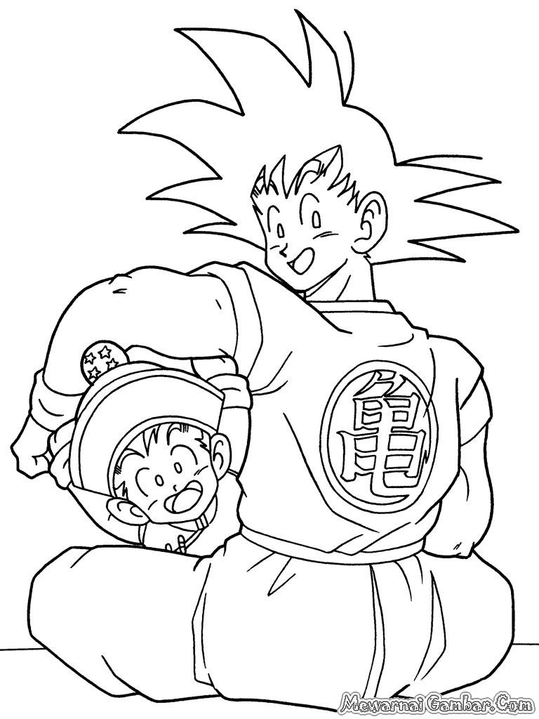 Mewarnai Dragon Ball Z  Mewarnai Gambar