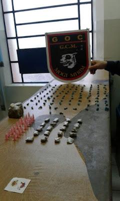 Crack, cocaína e maconha são localizados pela GCM de Mogi Mirim no Jardim Bicentenário