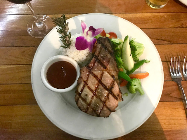 Double Cut Pork Loin chop, Lei Lei Bar & Grill