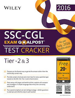 Wiley's SSC-CGL Exam Goalpost Test Cracker, Tier-2 & 3