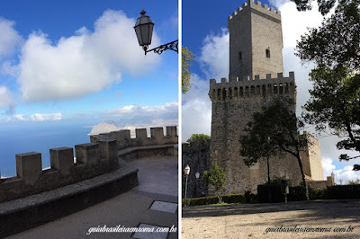 erice trapani torre Pepoli vista guia brasileira - Trapani, o sal e o vinho.