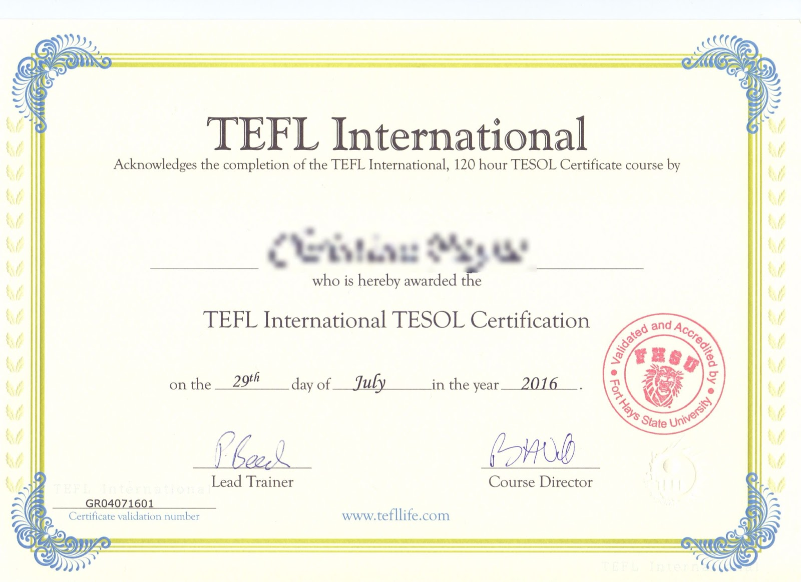 Tefl greece validation and accreditation for Tefl certificate template