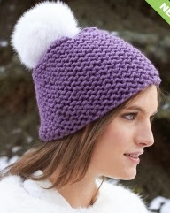 http://www.yarnspirations.com/pattern/knitting/garter-stitch-pompom-hat
