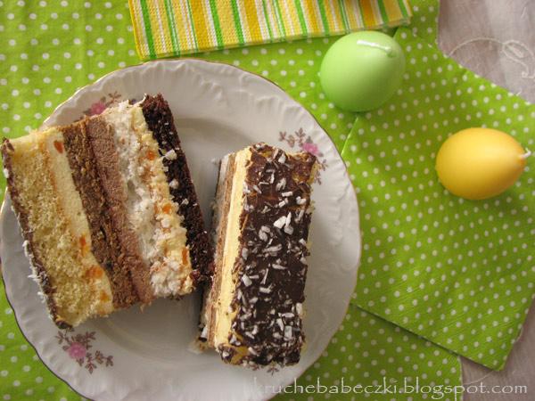 Ciasto bakaliowe, kolorowe :)