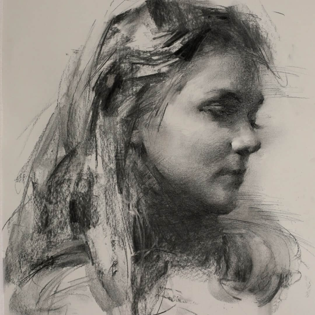 01-BYU-Student-Zhaoming-Wu-Black-and-White-Charcoal-Portraits-www-designstack-co