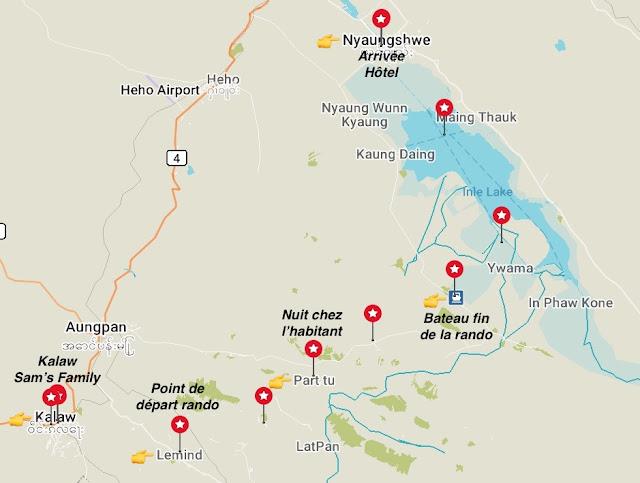 Circuit randonnée 2 jours 1 nuit de Kalaw au lac Inle