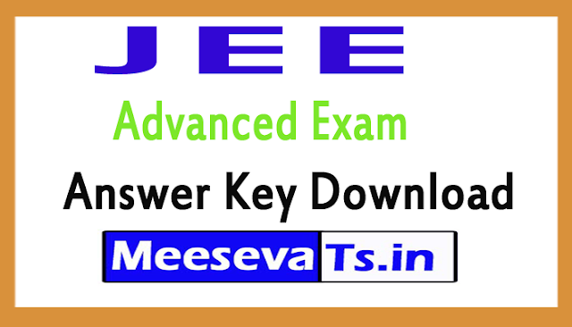 JEE Advanced Exam Answer Key Download 2018