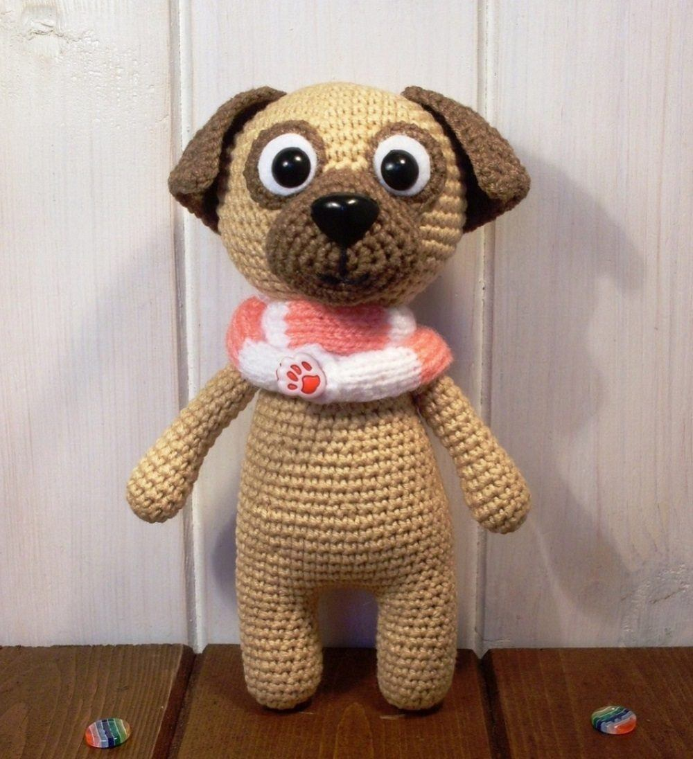 Pug dog amigurumi pattern