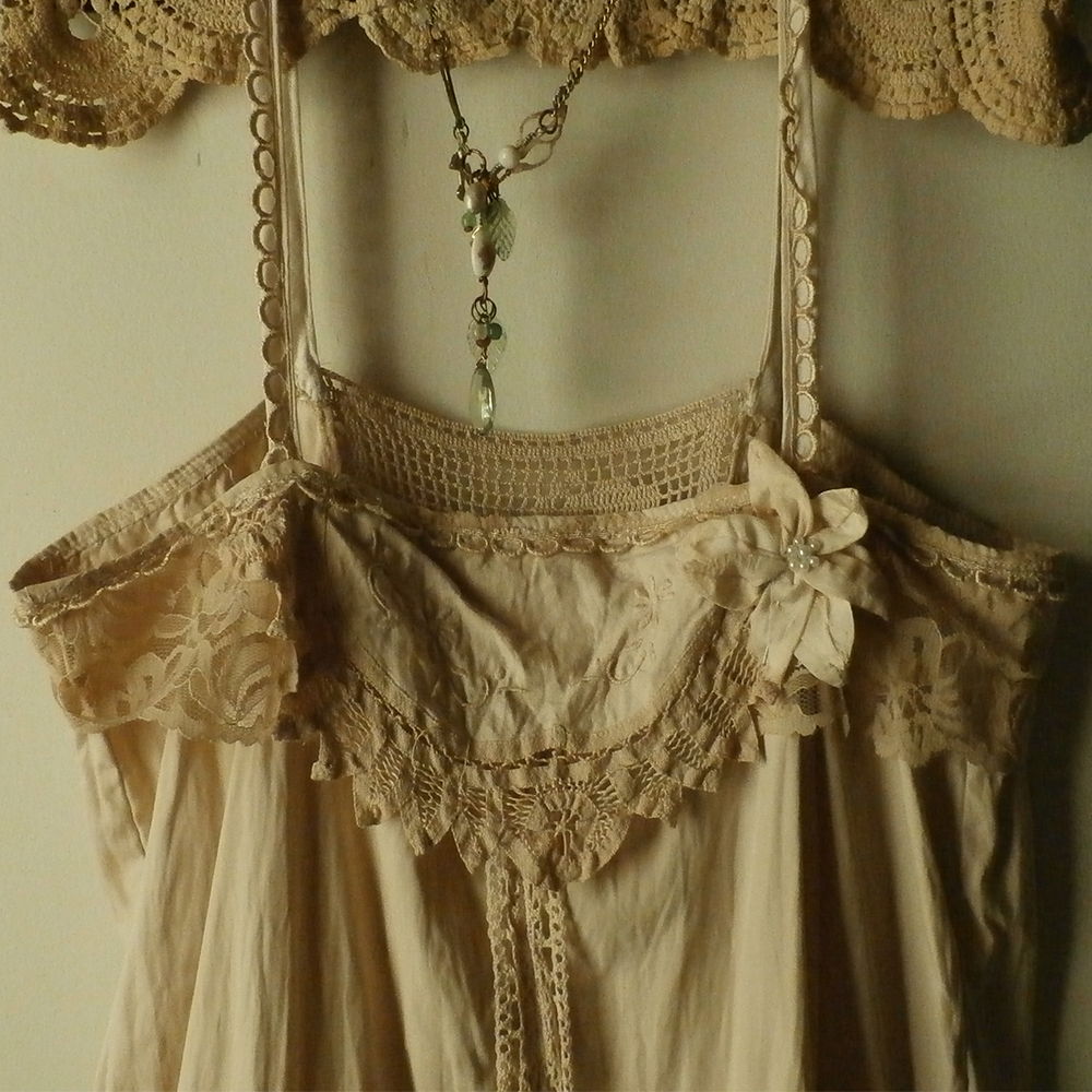5459d1a17ba Rag Picker Extra-Ordinaire: Cotton and Lace Camisole, Altered ...