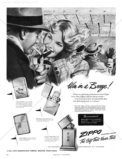Zippo magazine advertisement
