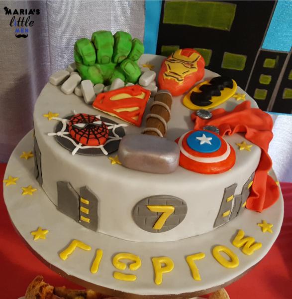 Super-Heroes-Birthday-Cake