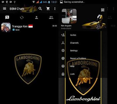 BBM Lamborghini v3.0.1.25 MOD APK ( BBM MOD Sport Cars)