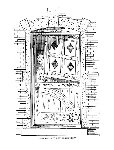 Large illustration of a two-part door