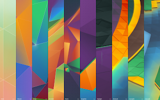 "Plasma 5 mash-up wallpaper, entitled ""history"""