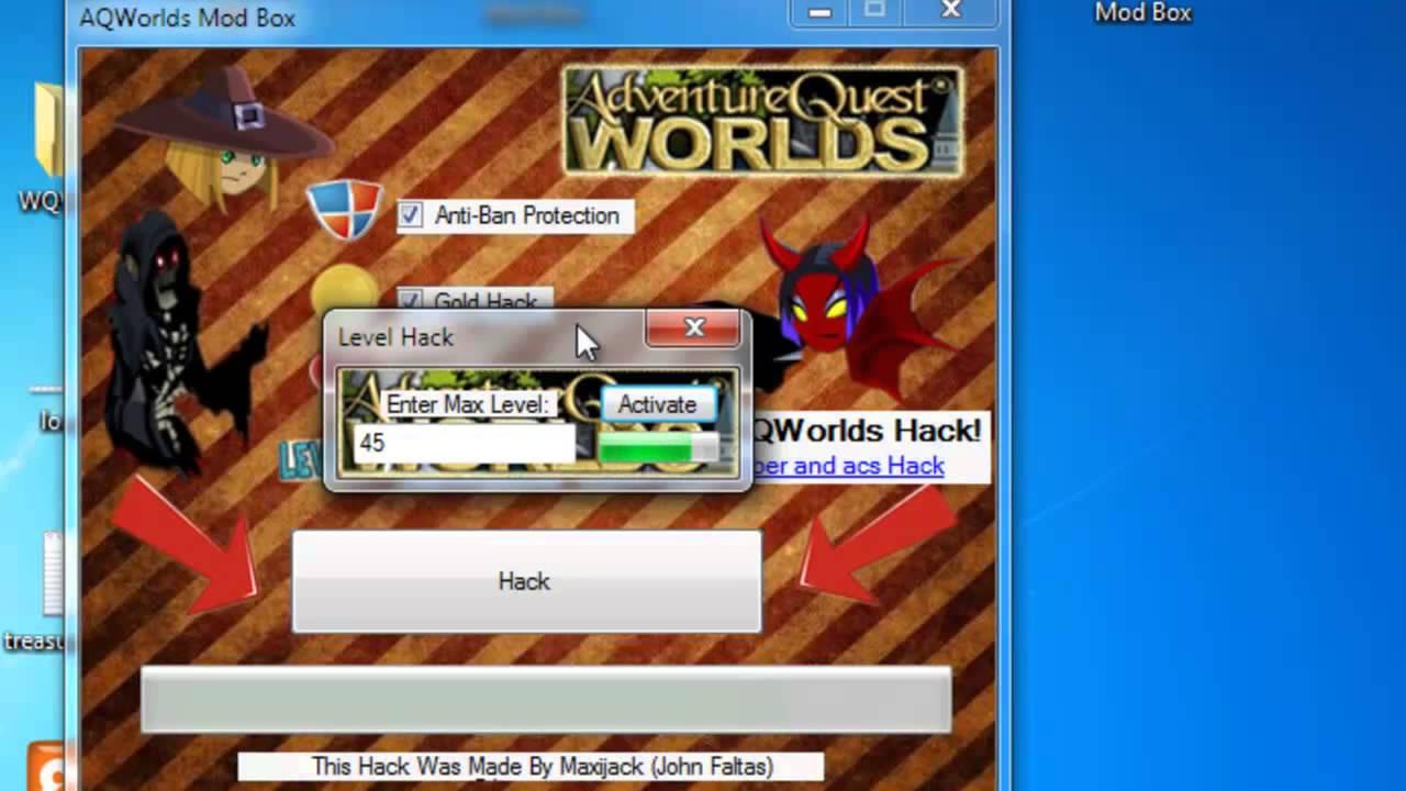 AQW Hack 2013 [AC Hack + Level Hack + Gold Hack + Rep Hack