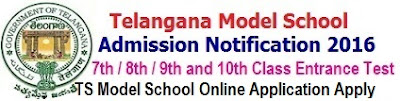 TS Model School Online Apply for 7th/ 8th/ 9th/ 10th classes Admission 2019